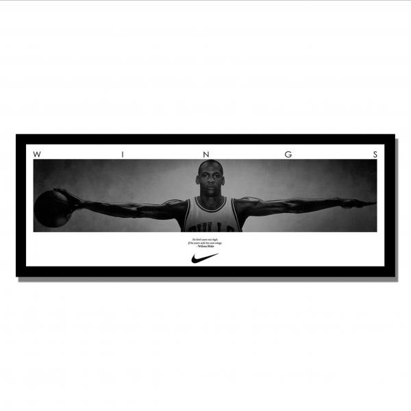 Michael Jordan Wings Custom Framed