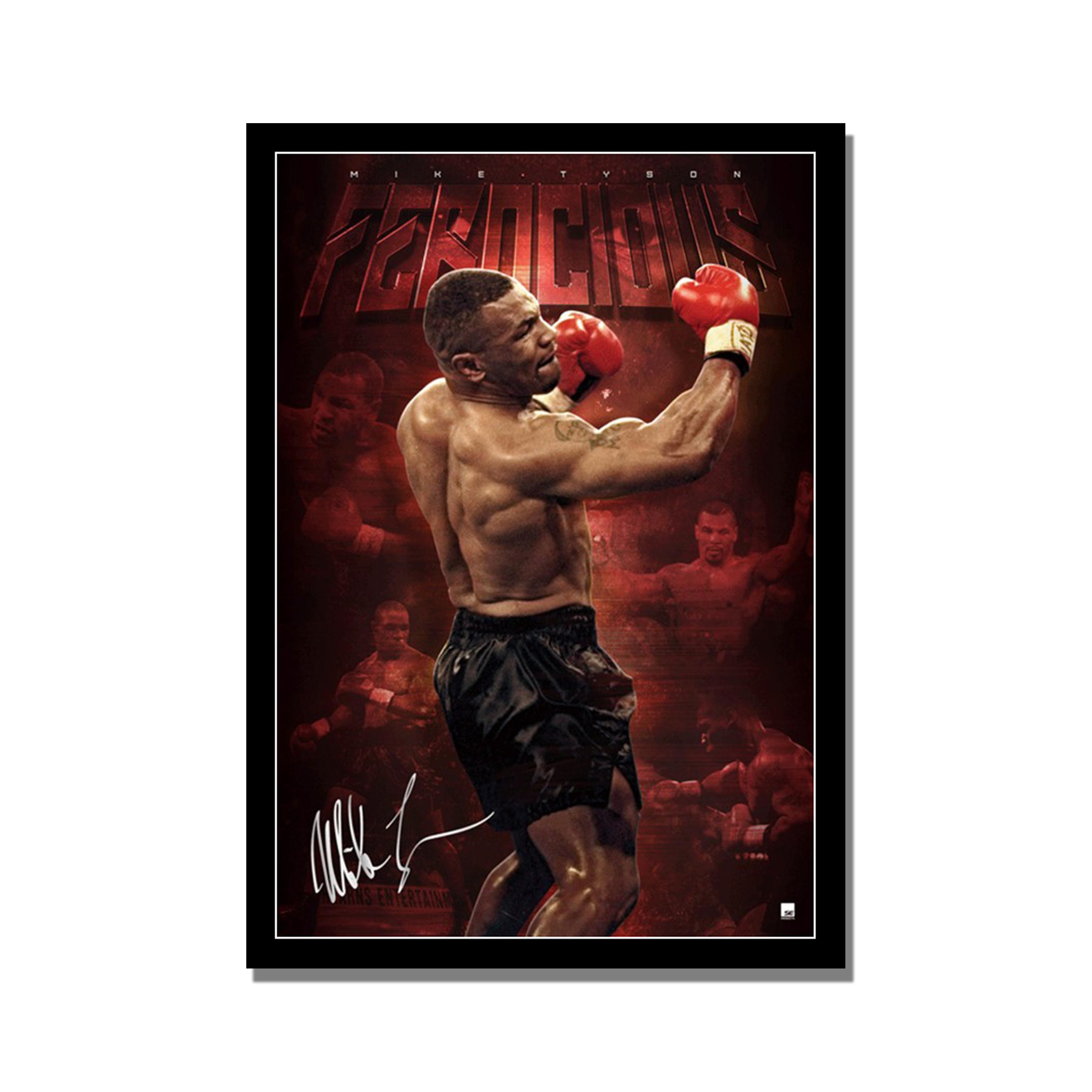 Custom framed poster of Mike Tyson
