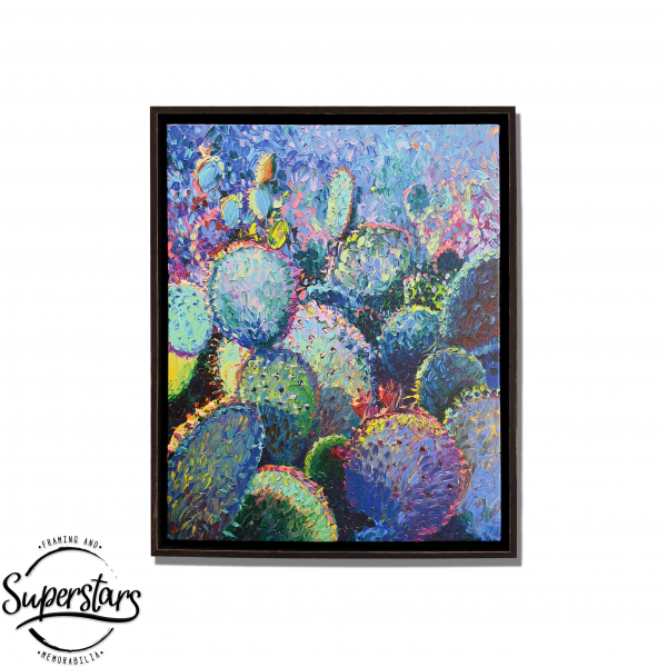 Plant wall art - Cactus Refractus by Iris Scott