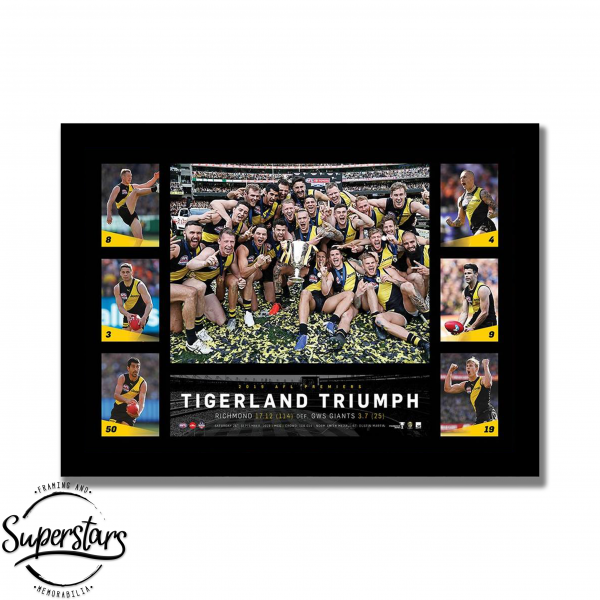Custom framed Richmond Football Club tribute