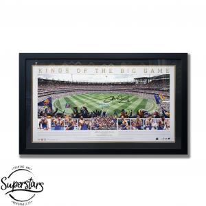 Framed image of football oval