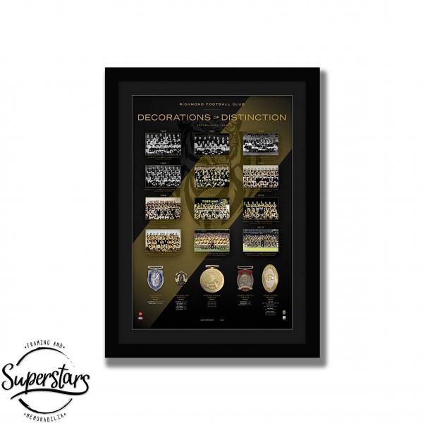 Richmond Memorabilia Perth: A collection of photos and replica medals of Richmond Football Club.