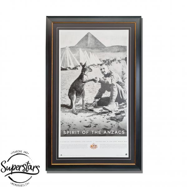 Anzac Memorabilia in custom frame